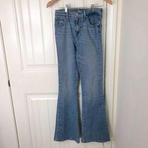 Levi's High Rise Flare Medium Light Wash Jeans 25